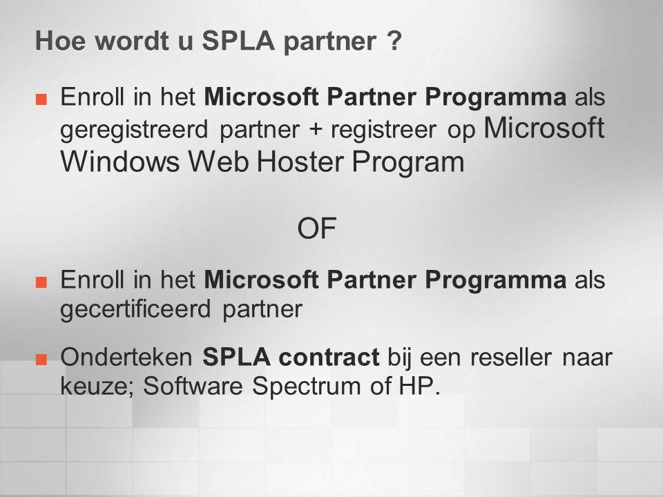 Hoe wordt u SPLA partner .