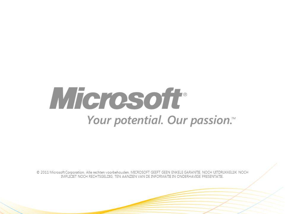 © 2011 Microsoft Corporation. Alle rechten voorbehouden.