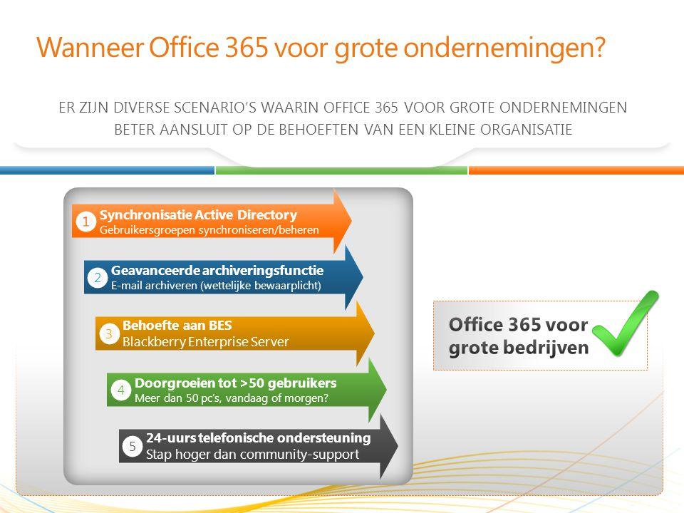 Wanneer Office 365 voor grote ondernemingen.