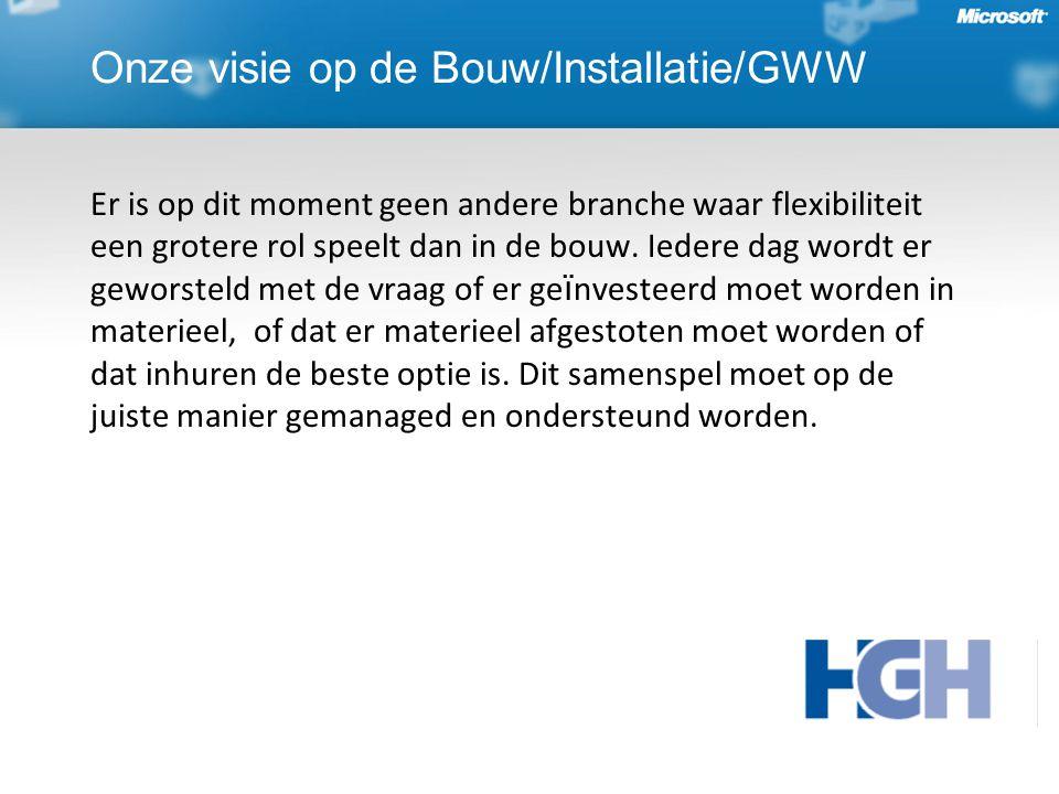 Onze visie op de Bouw/Installatie/GWW Er is op dit moment geen andere branche waar flexibiliteit een grotere rol speelt dan in de bouw.