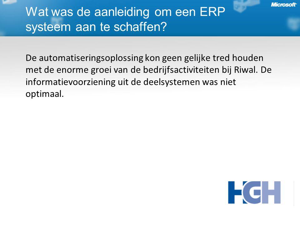 De automatiseringsoplossing kon geen gelijke tred houden met de enorme groei van de bedrijfsactiviteiten bij Riwal.