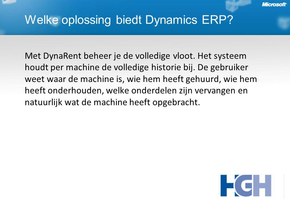 Met DynaRent beheer je de volledige vloot. Het systeem houdt per machine de volledige historie bij.