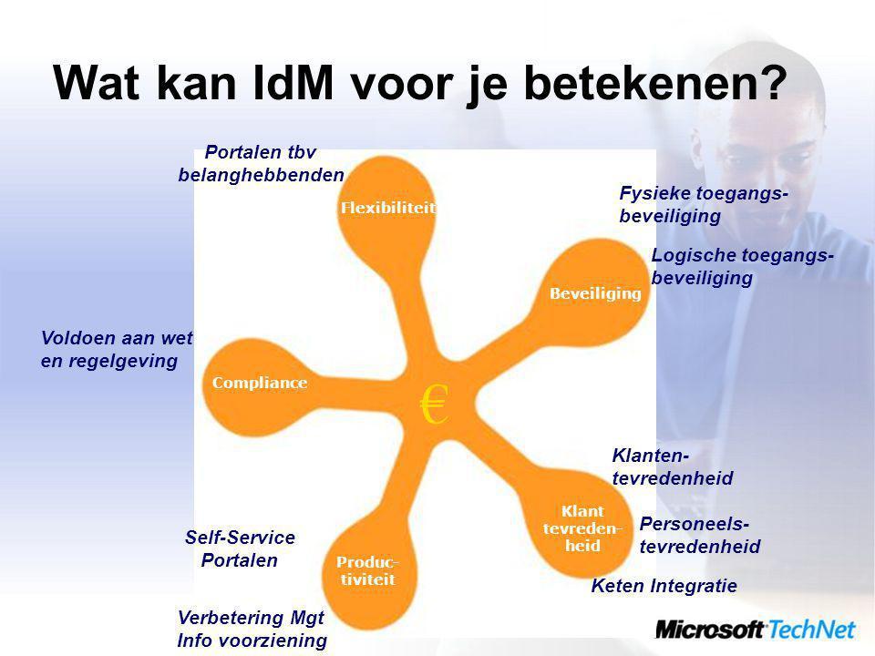 Wat kan IdM voor je betekenen.
