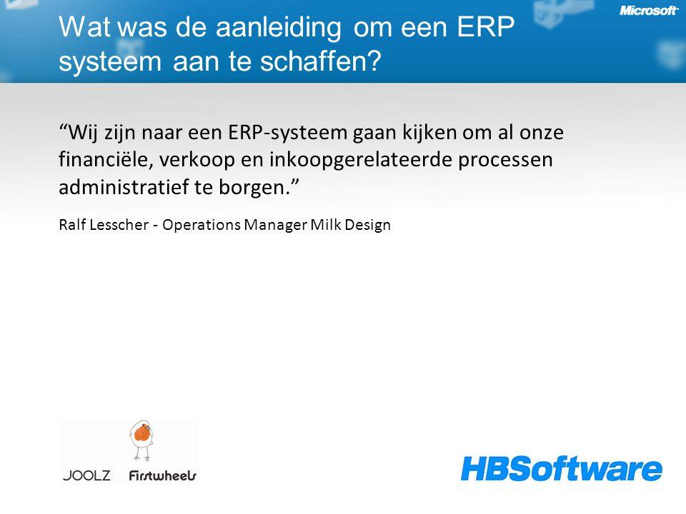 """""""Wij zijn naar een ERP-systeem gaan kijken om al onze financiële, verkoop en inkoopgerelateerde processen administratief te borgen."""" Ralf Lesscher - O"""