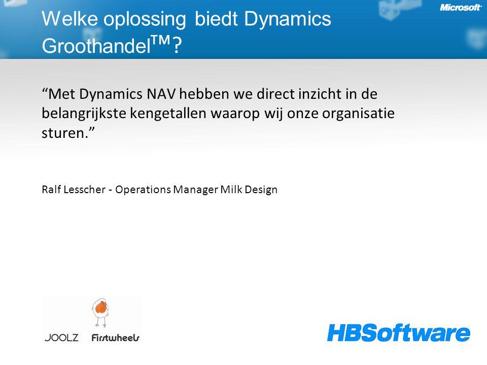 """""""Met Dynamics NAV hebben we direct inzicht in de belangrijkste kengetallen waarop wij onze organisatie sturen."""" Ralf Lesscher - Operations Manager Mil"""