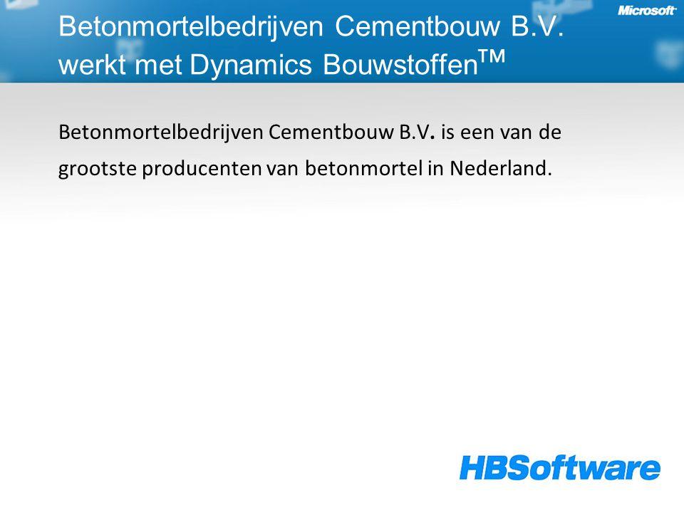 Betonmortelbedrijven Cementbouw B.V.