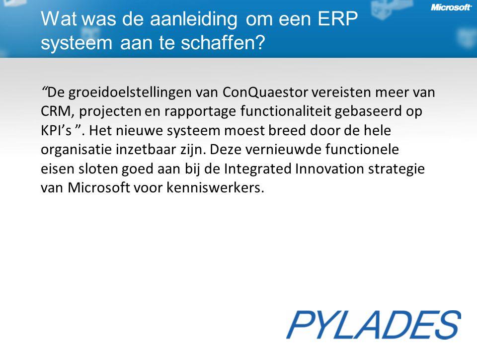 De groeidoelstellingen van ConQuaestor vereisten meer van CRM, projecten en rapportage functionaliteit gebaseerd op KPI's .