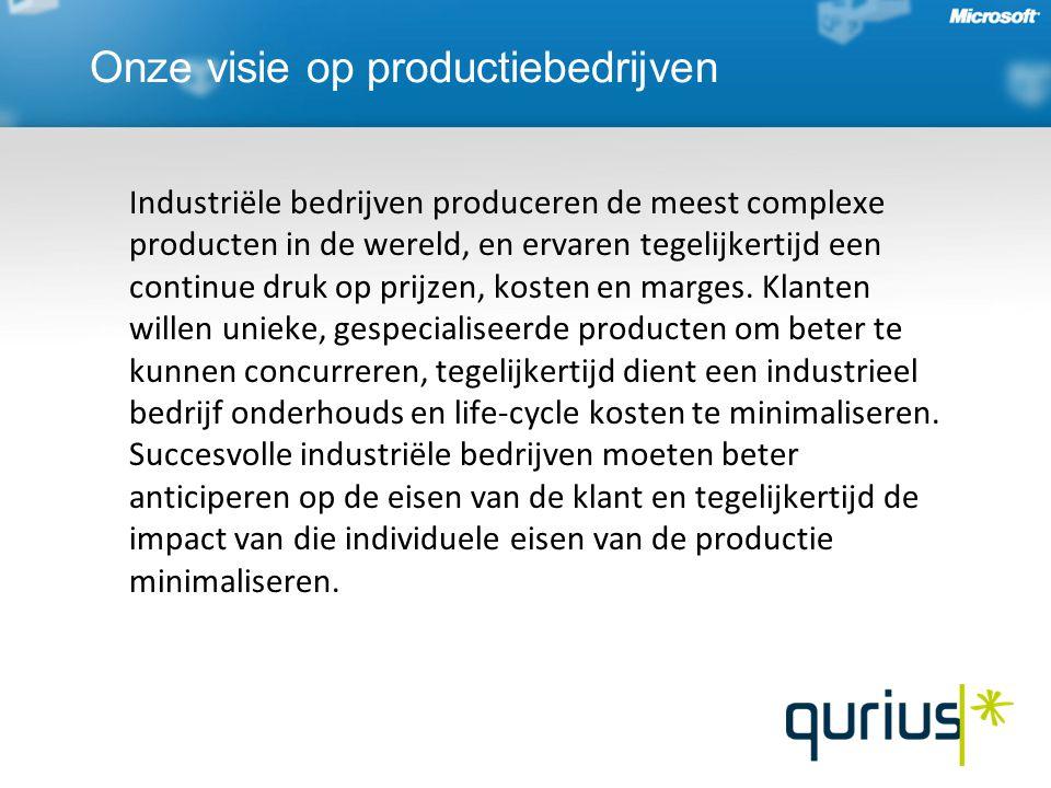 Onze visie op productiebedrijven Industriële bedrijven produceren de meest complexe producten in de wereld, en ervaren tegelijkertijd een continue druk op prijzen, kosten en marges.