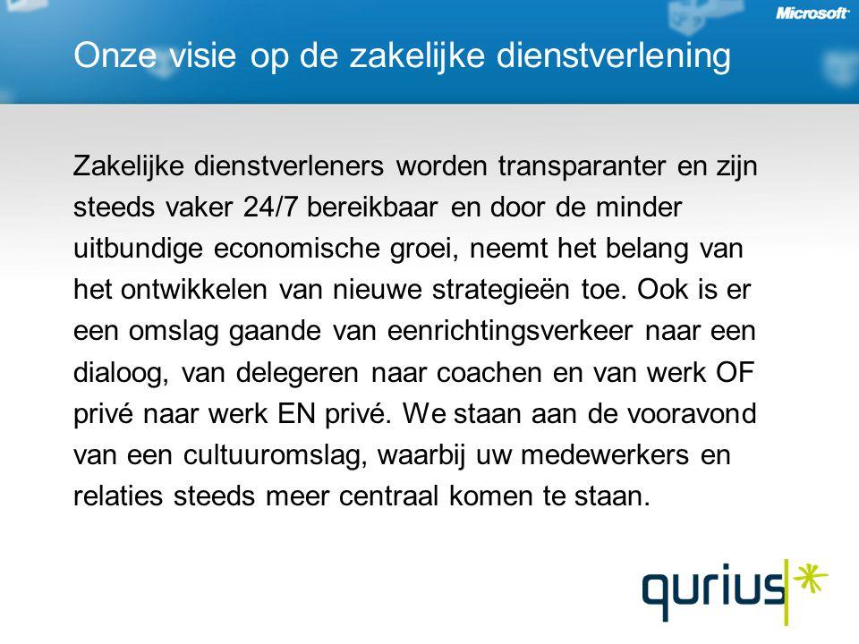 Onze visie op de zakelijke dienstverlening Zakelijke dienstverleners worden transparanter en zijn steeds vaker 24/7 bereikbaar en door de minder uitbundige economische groei, neemt het belang van het ontwikkelen van nieuwe strategieën toe.