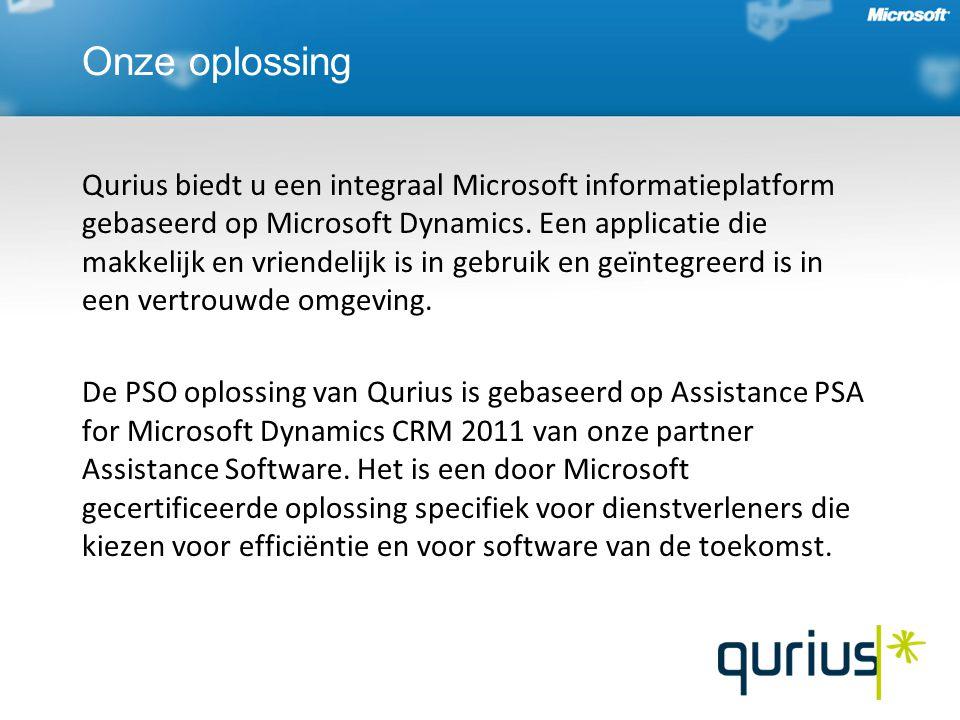 Onze oplossing Qurius biedt u een integraal Microsoft informatieplatform gebaseerd op Microsoft Dynamics.