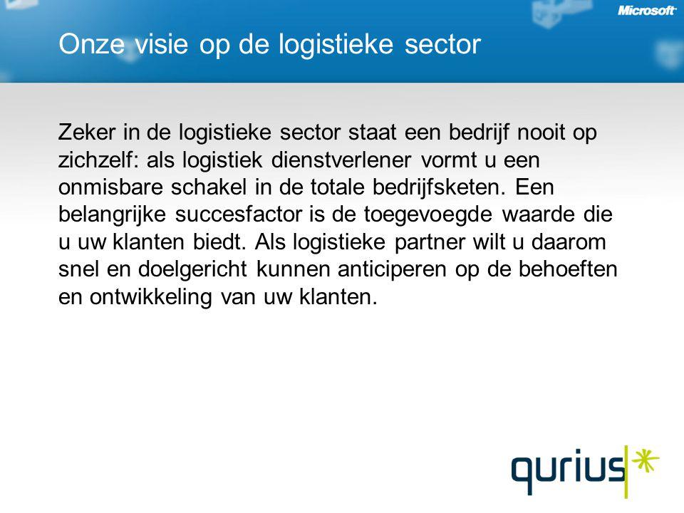 Onze visie op de logistieke sector Zeker in de logistieke sector staat een bedrijf nooit op zichzelf: als logistiek dienstverlener vormt u een onmisbare schakel in de totale bedrijfsketen.