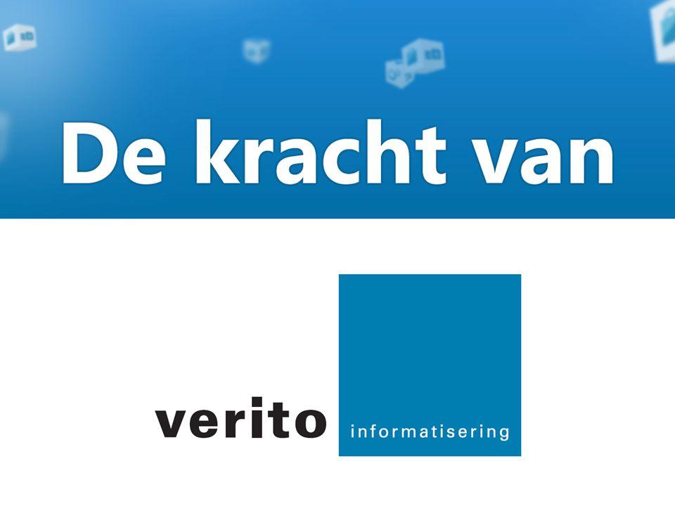 De kracht van Verito Verito is een partner die met u meedenkt en met u meegroeit naar de toekomst.