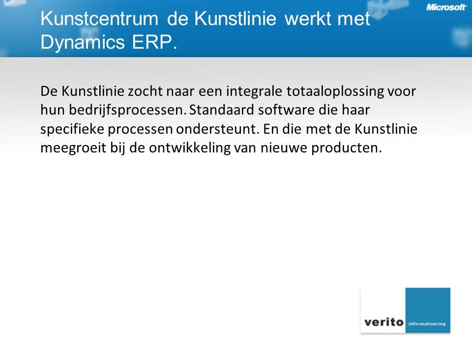 Kunstcentrum de Kunstlinie werkt met Dynamics ERP.