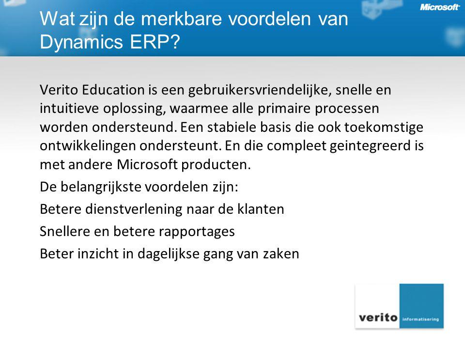 Verito Education is een gebruikersvriendelijke, snelle en intuitieve oplossing, waarmee alle primaire processen worden ondersteund. Een stabiele basis