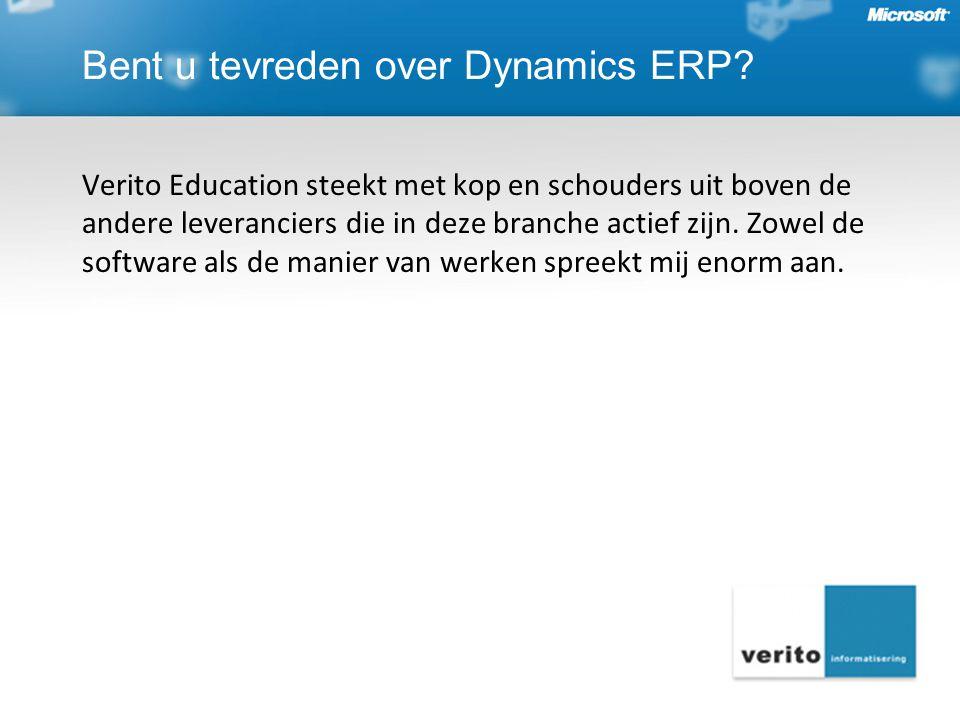 Verito Education steekt met kop en schouders uit boven de andere leveranciers die in deze branche actief zijn. Zowel de software als de manier van wer