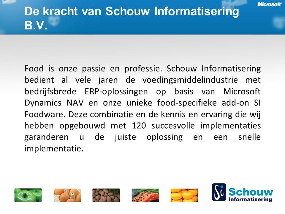 De kracht van Schouw Informatisering B.V. Food is onze passie en professie.