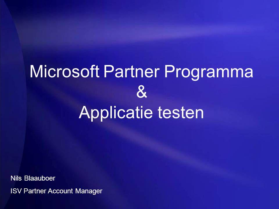 Agenda Samenvatting MSPP Applicatie Testen – Nu Aanmeldingsdemo Applicatie Testen – Lange termijn