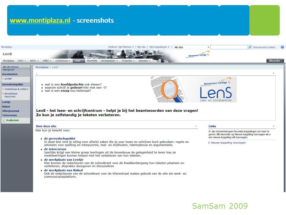 SamSam 2009 16 www.montiplaza.nlwww.montiplaza.nl - screenshots