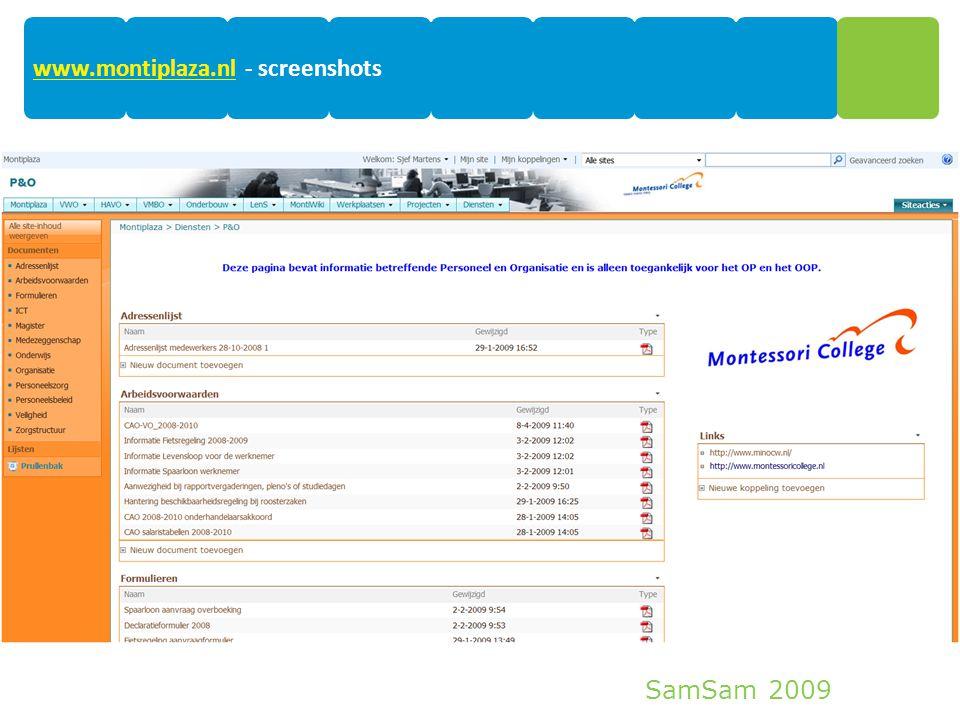 SamSam 2009 18 www.montiplaza.nlwww.montiplaza.nl - screenshots