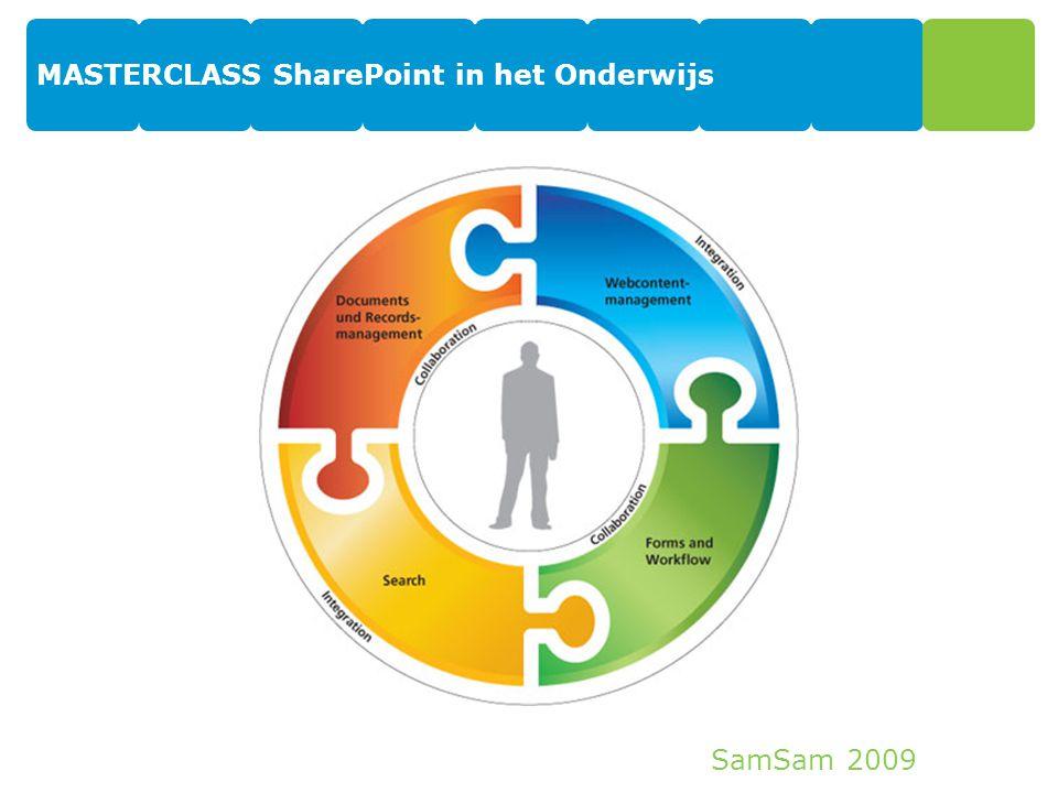 SamSam 2009 MASTERCLASS SharePoint in het Onderwijs 20