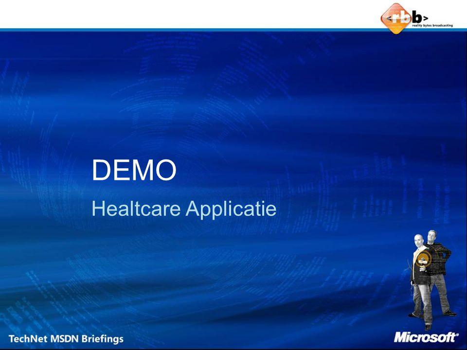 DEMO Healtcare Applicatie