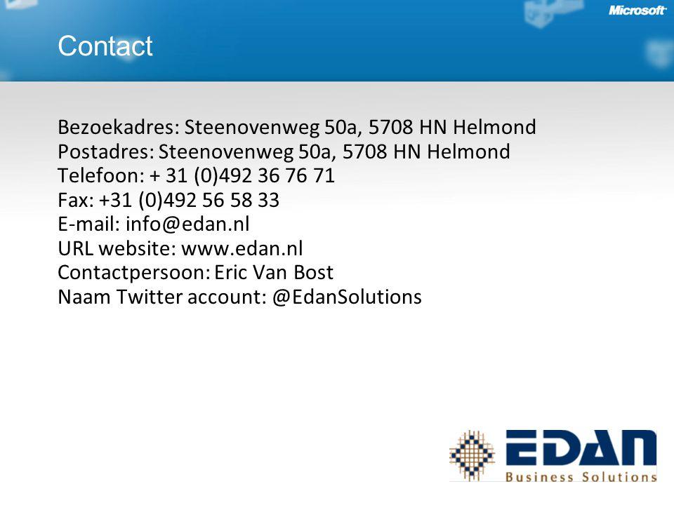 Bezoekadres: Steenovenweg 50a, 5708 HN Helmond Postadres: Steenovenweg 50a, 5708 HN Helmond Telefoon: + 31 (0)492 36 76 71 Fax: +31 (0)492 56 58 33 E-