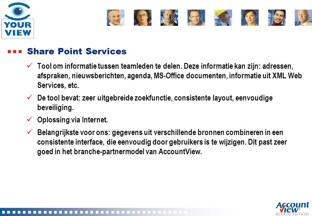 Business Case Klant CONTOSO werkt met maatwerk ERP systeem en AccountView Financieel Willen via het web toegang krijgen tot de financiële data.