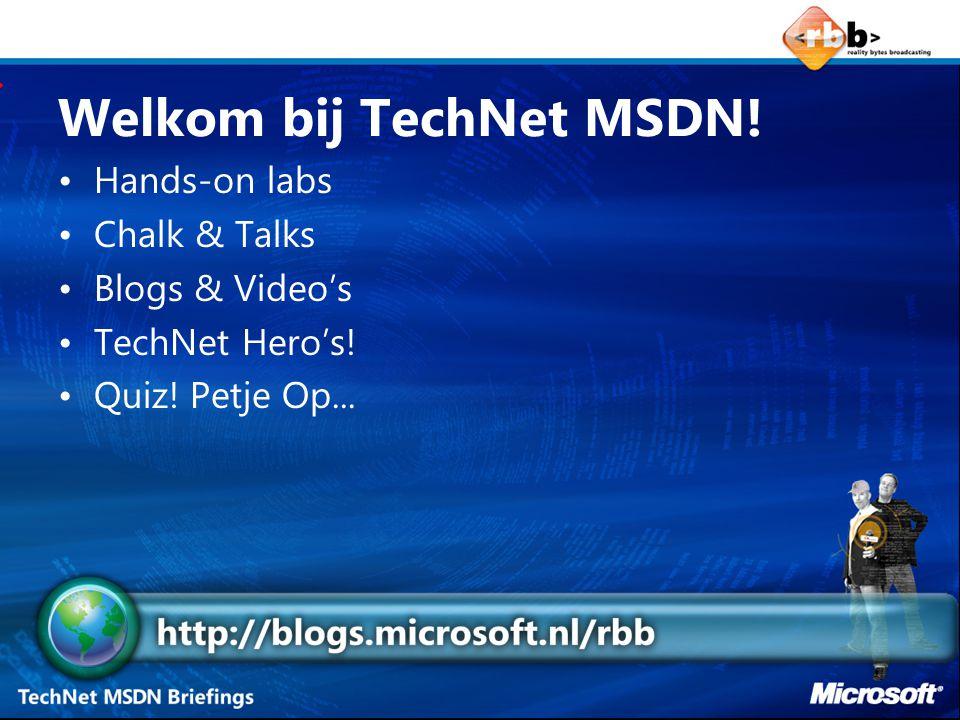 TechNet is meer… IT Pro Nieuwsbrief IT Pro TechNet Website IT's Showtime.