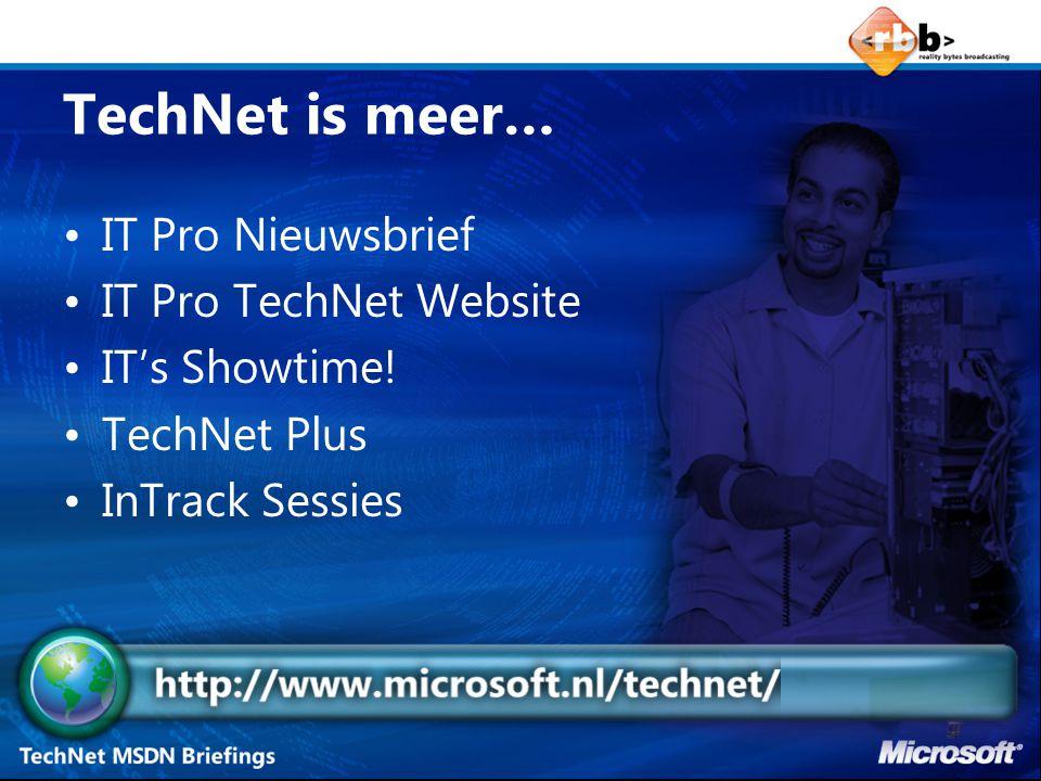 IT's Showtime.Technische sessies Top sprekers Veel nieuwe content.