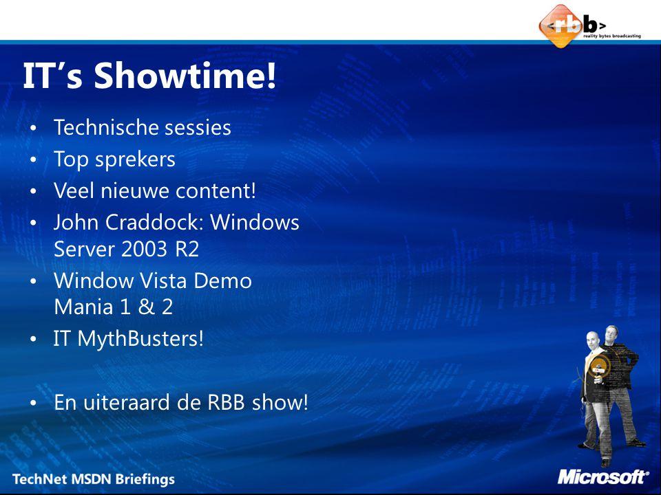 De bron voor Microsoft software, tools en technische ondersteuning Full-version software voor evaluatie doeleinden –Niet time-bombed –m.u.v.
