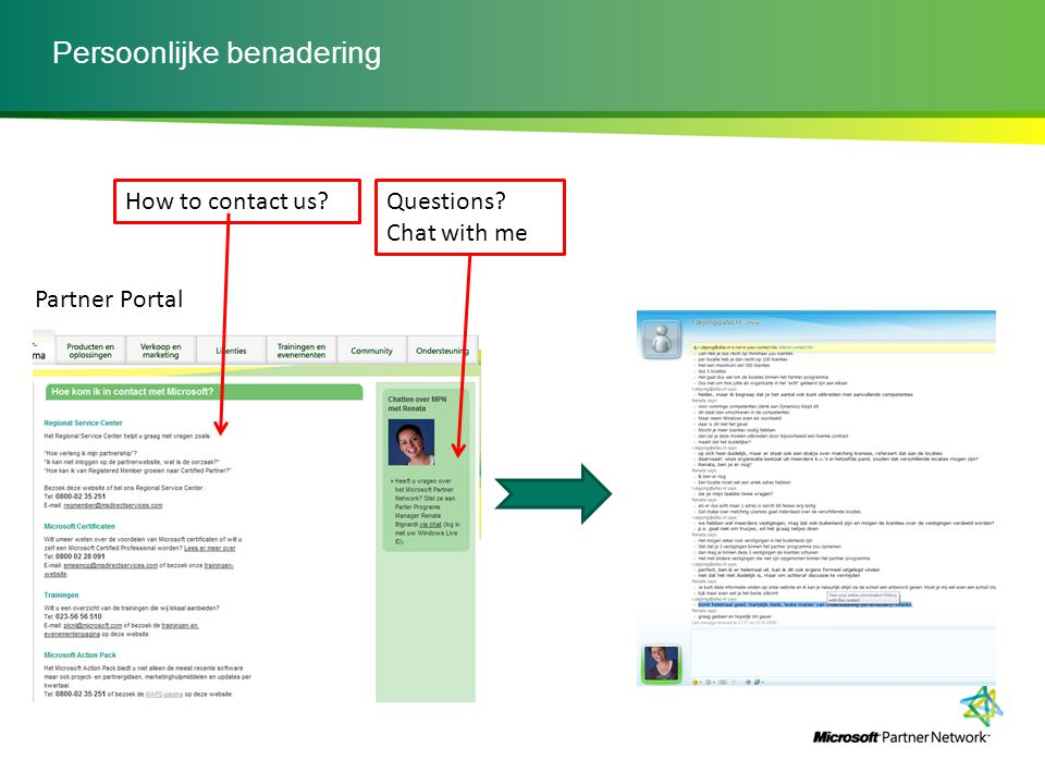 Transitie overview naar het Microsoft Partner Network The Roadmap for Partners July 2009 October – November 2009 May 2010After October 2010 New Microsoft Partner Network identity implemented across media– portal, web, collateral, tools.