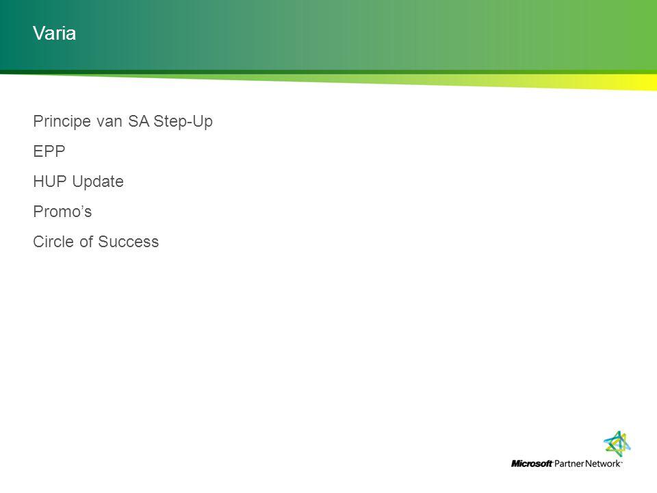 Varia Principe van SA Step-Up EPP HUP Update Promo's Circle of Success
