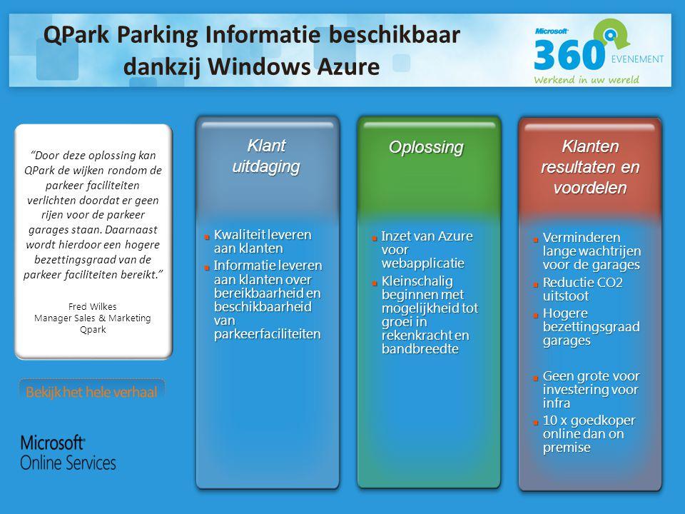 Door deze oplossing kan QPark de wijken rondom de parkeer faciliteiten verlichten doordat er geen rijen voor de parkeer garages staan.