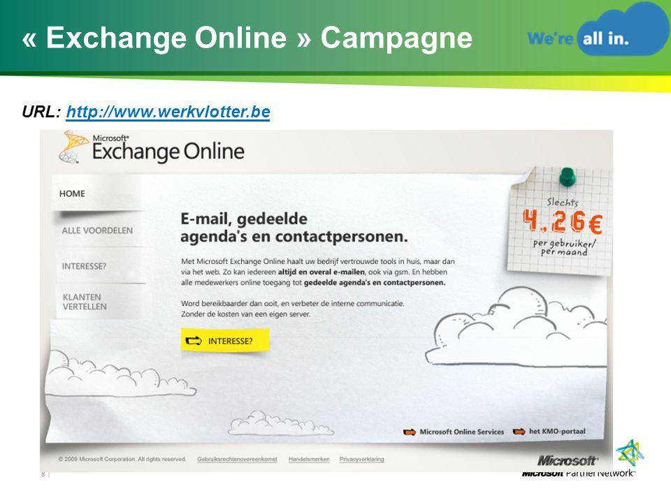 « Exchange Online » Campagne URL: http://www.werkvlotter.be 8 |