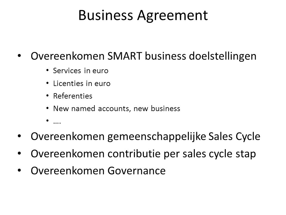 Joint Sales Cycle