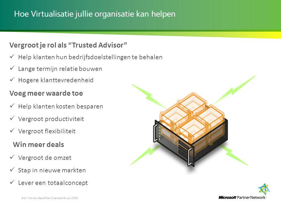 """Hoe Virtualisatie jullie organisatie kan helpen Vergroot je rol als """"Trusted Advisor"""" Help klanten hun bedrijfsdoelstellingen te behalen Lange termijn"""
