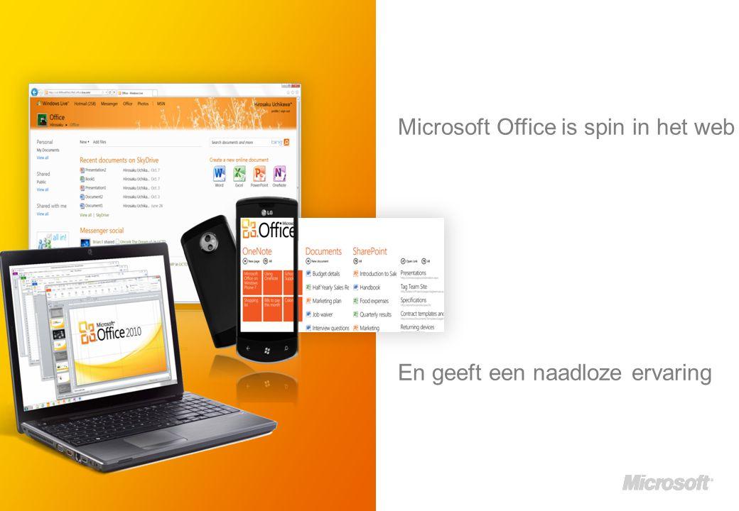 Microsoft Office is spin in het web En geeft een naadloze ervaring