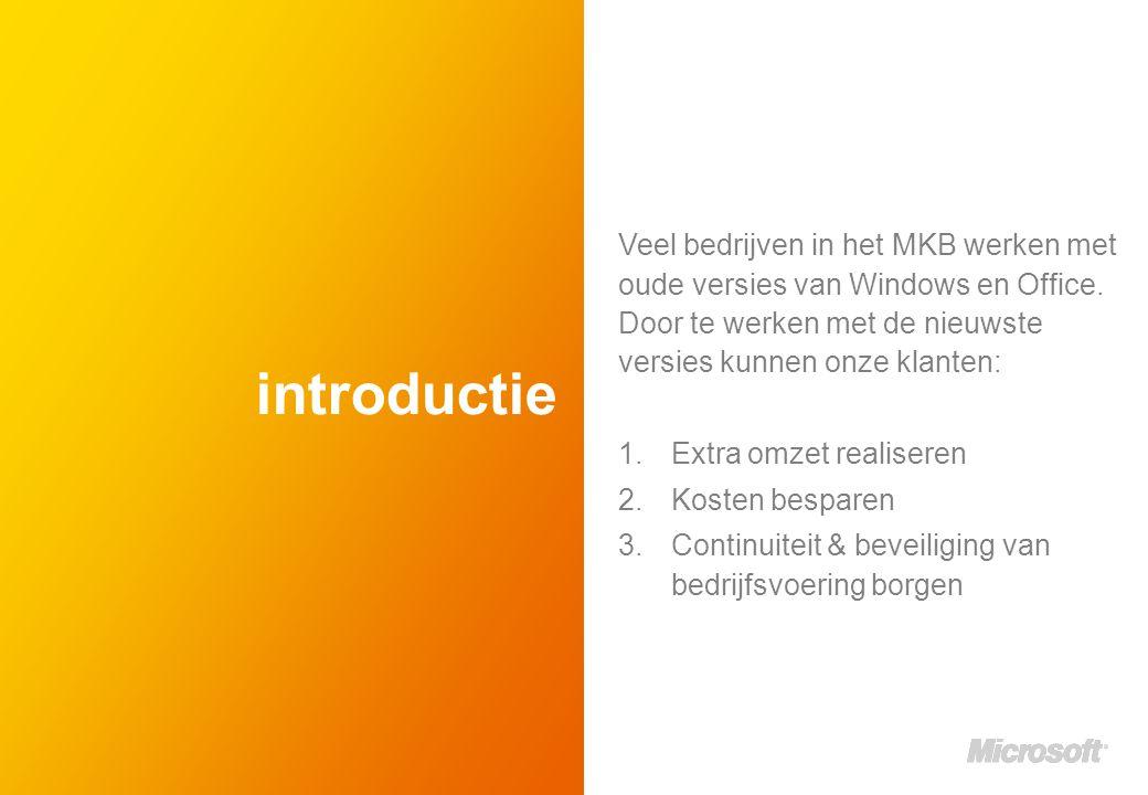 introductie Veel bedrijven in het MKB werken met oude versies van Windows en Office.
