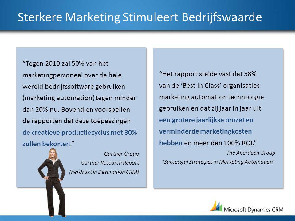 """Sterkere Marketing Stimuleert Bedrijfswaarde """"Het rapport stelde vast dat 58% van de 'Best in Class' organisaties marketing automation technologie geb"""