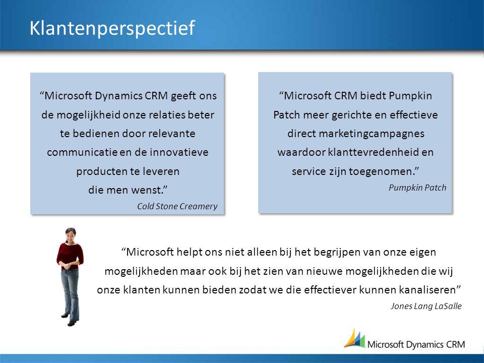 """Klantenperspectief """"Microsoft Dynamics CRM geeft ons de mogelijkheid onze relaties beter te bedienen door relevante communicatie en de innovatieve pro"""