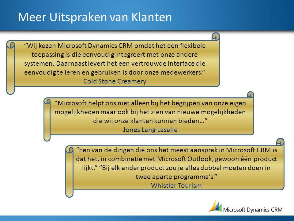 """Meer Uitspraken van Klanten """"Microsoft helpt ons niet alleen bij het begrijpen van onze eigen mogelijkheden maar ook bij het zien van nieuwe mogelijkh"""