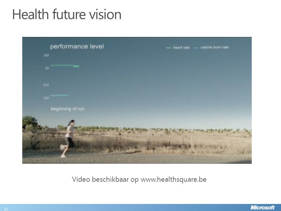 Health future vision 17 Video beschikbaar op www.healthsquare.be