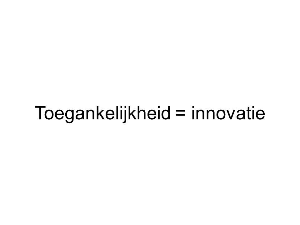 Toegankelijkheid = innovatie