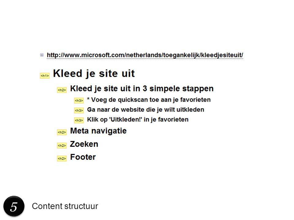 5 Content structuur