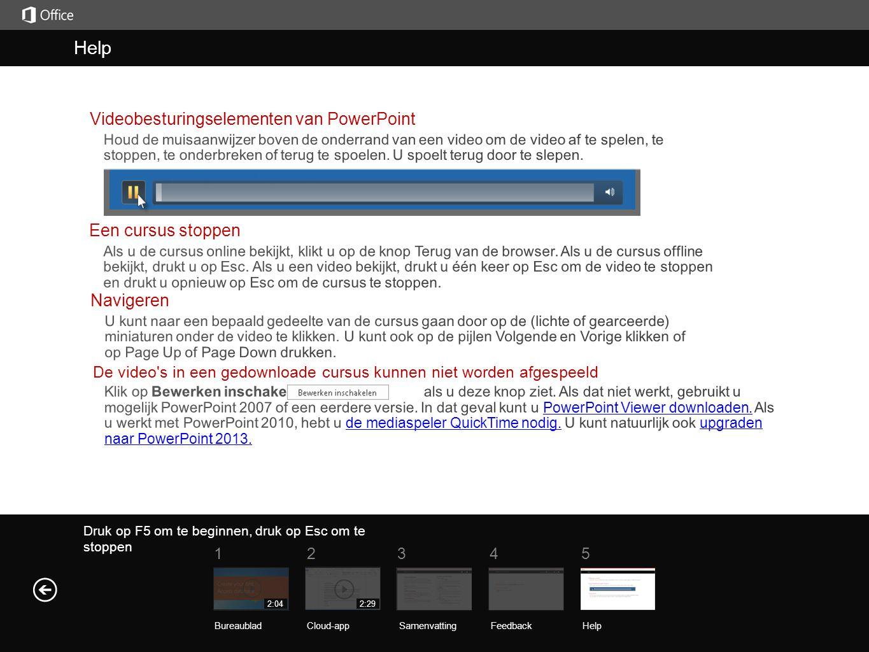 Help Samenvatting Druk op F5 om te beginnen, druk op Esc om te stoppen Help SamenvattingFeedback Help 51234 BureaubladCloud-app 2:292:04