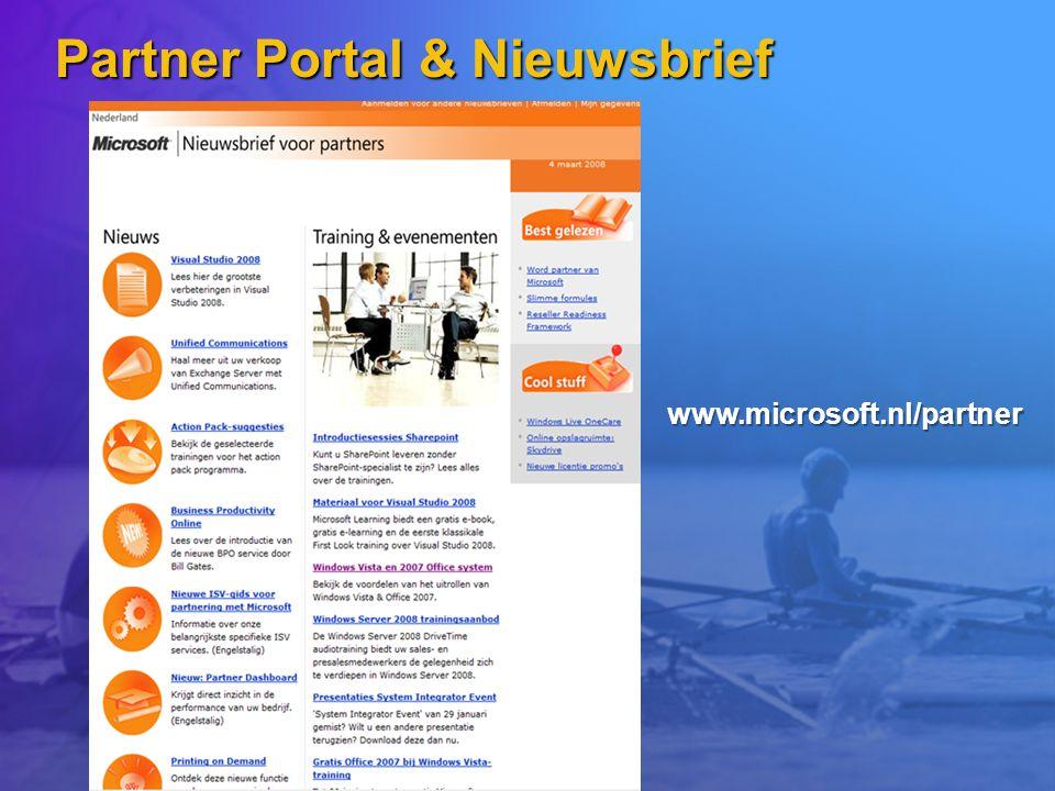 Partner Portal & Nieuwsbrief www.microsoft.nl/partner