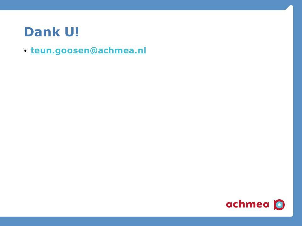 Dank U! teun.goosen@achmea.nl