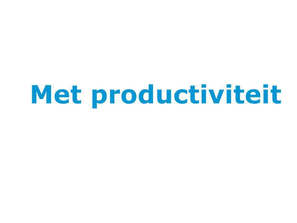 Met productiviteit