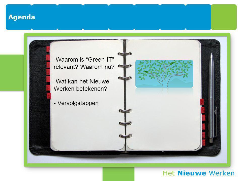 Agenda -Waarom is Green IT relevant. Waarom nu.