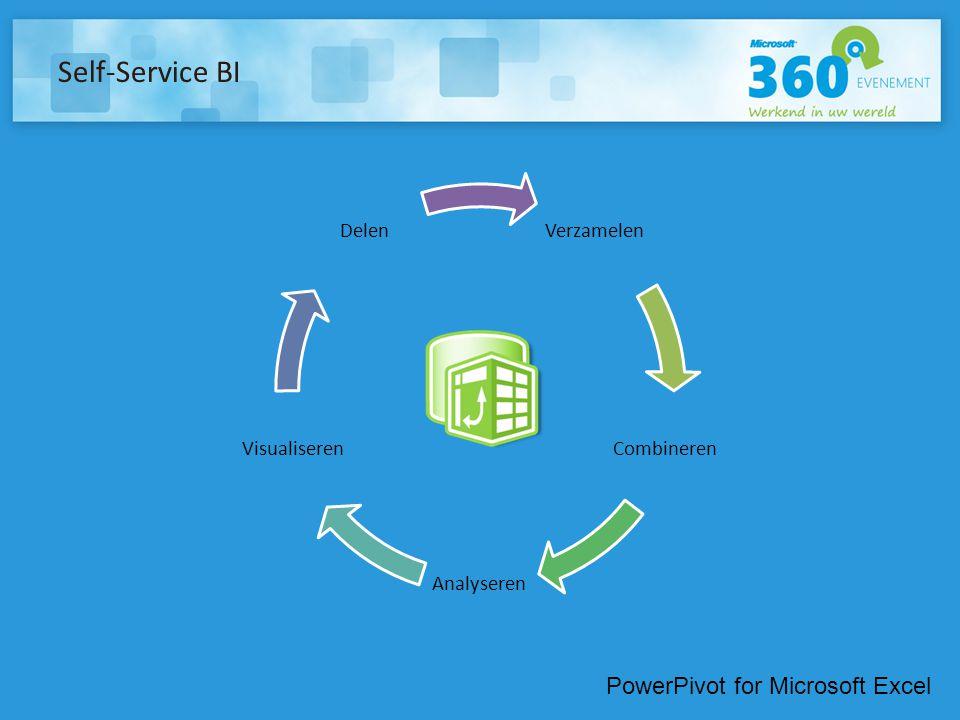 Self-Service BI Verzamelen Combineren Analyseren Visualiseren Delen PowerPivot for Microsoft Excel
